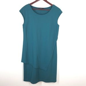 Lafayetter 148 Emerald Green Assymetrical Dress 12